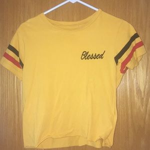 Cropped Blessed Tee